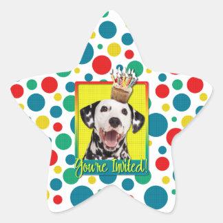 Invitation Cupcake - Dalmatian Sticker