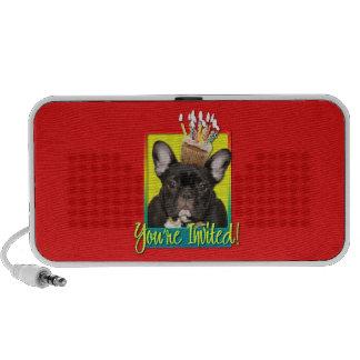 Invitation Cupcake - French Bulldog - Teal Mp3 Speakers