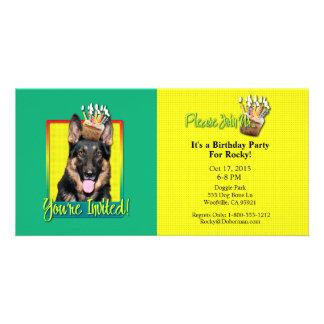 Invitation Cupcake - German Shepherd - Kuno Custom Photo Card