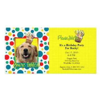 Invitation Cupcake - Golden Retriever - Mickey Photo Card Template