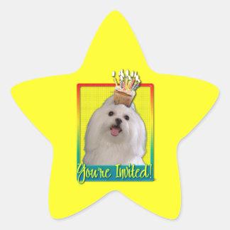 Invitation Cupcake - Maltese Star Sticker