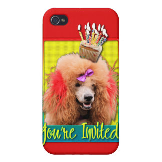Invitation Cupcake - Poodle - Red iPhone 4 Case