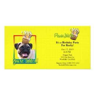 Invitation Cupcake - Pug Photo Card Template