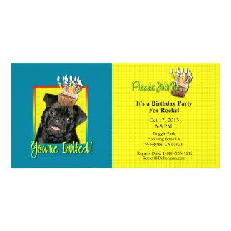Invitation Cupcake - Pug - Ruffy Photo Card Template