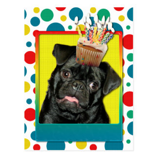 Invitation Cupcake - Pug - Ruffy Postcard