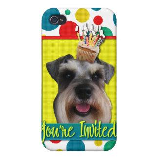 Invitation Cupcake - Schnauzer iPhone 4 Cases
