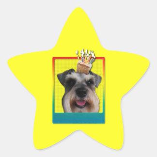 Invitation Cupcake - Schnauzer Star Sticker