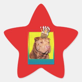 Invitation Cupcake - Shar Pei - Lucky Star Sticker