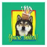 Invitation Cupcake - Shiba Inu - Yasha