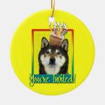 Invitation Cupcake - Shiba Inu - Yasha Christmas Tree Ornament