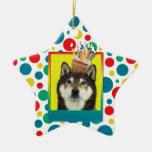 Invitation Cupcake - Shiba Inu - Yasha Christmas Tree Ornaments