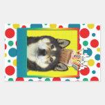 Invitation Cupcake - Shiba Inu - Yasha Rectangular Sticker