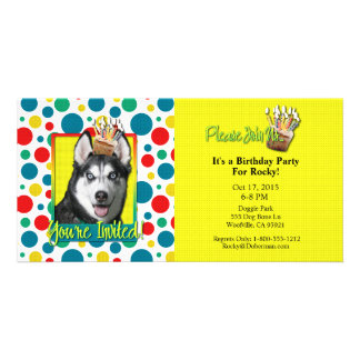 Invitation Cupcake - Siberian Husky Picture Card