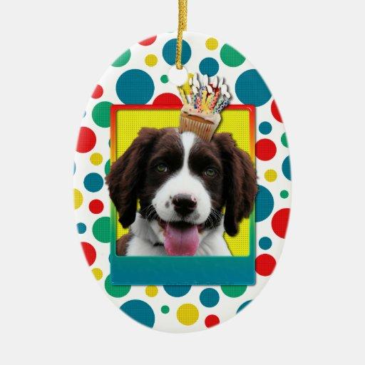 Invitation Cupcake - Springer Spaniel - Baxter Christmas Ornaments