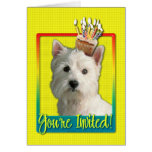 Invitation Cupcake - West Highland Terrier Greeting Card