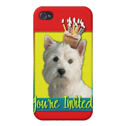 Invitation Cupcake - West Highland Terrier Cover For iPhone 4