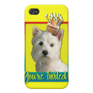 Invitation Cupcake - West Highland Terrier iPhone 4/4S Covers