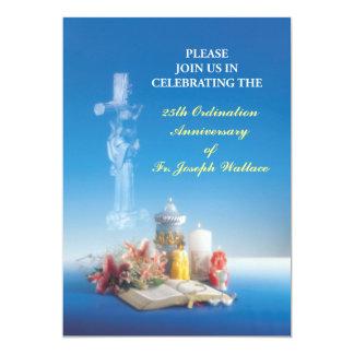 Invitation Customizable Year, Name 25th Ordination