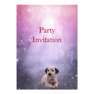 Invitation Dalmation at the Park Invites