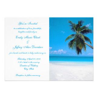 Invitation Destination Beach Wedding Customised