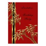"""Invitation Elegant Birthday Party Asian Bamboo 5"""" X 7"""" Invitation Card"""