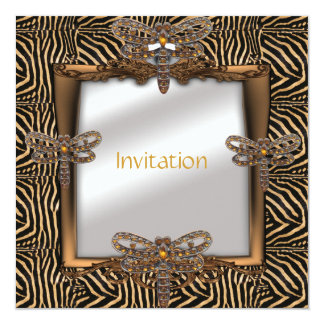Invitation Elegant Bronze Animal Dragonfly jewel