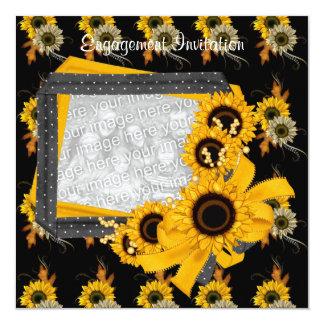 Invitation Engagement Photo Sunflower Frame