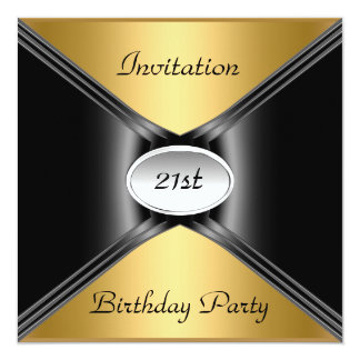 Invitation Envelope Any Birthday Gold color