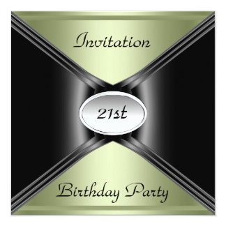 Invitation Envelope Any Birthday Light Lime color