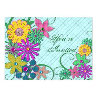 Invitation - Flowers - Bright - Cheery