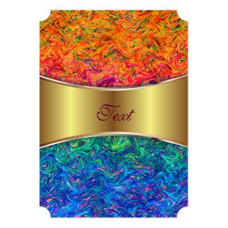 Invitation Fluid Colors