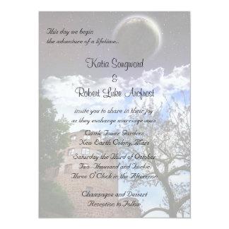 Invitation for Terraformer Wedding Theme