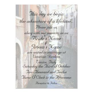 Invitation for Venice Themed Wedding