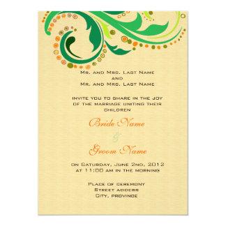 Invitation from bride and groom's parents custom invitation