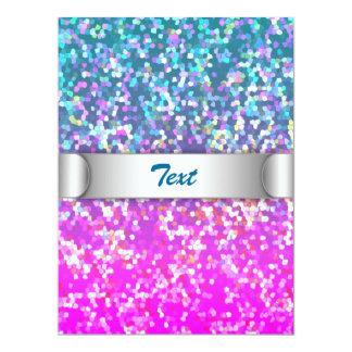 """Invitation Glitter Graphic Background 6.5"""" X 8.75"""" Invitation Card"""