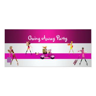 Invitation Going Away Party Girls Bike Luggage Fun