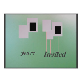 Invitation - Gradient Green