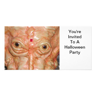 Invitation, Halloween Party, Monster Photo Card Template