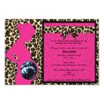 Invitation - Hot Pink Leopard Baby Shower Sonogram