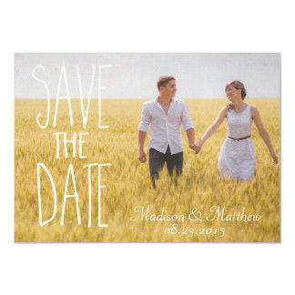 Invitation knows the dates rustic vintage country