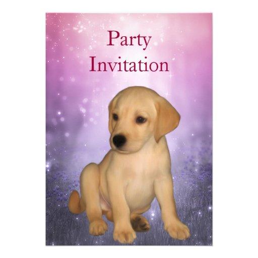 Invitation Labrador Puppy at the Park Announcements