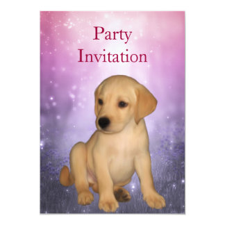 Invitation Labrador Puppy at the Park