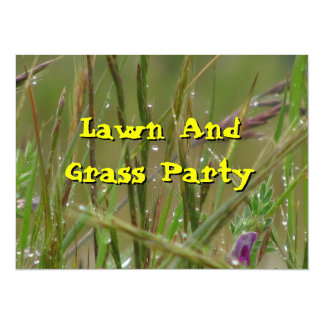 Invitation - Lawn And Grass Party