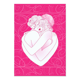"""Invitation Love Embrace 5"""" X 7"""" Invitation Card"""