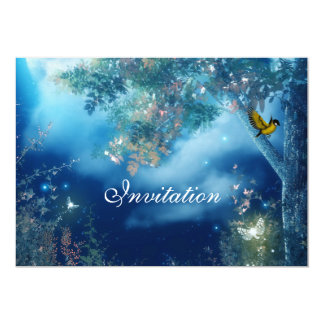 Invitation Magical Blue Scene