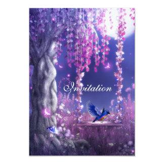 Invitation Magical Pink Blue Scene