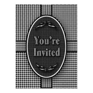 Invitation -Multi-Purpose - Black White Custom Announcement