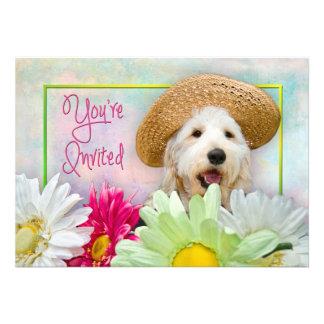 INVITATION - MULTI-PURPOSE - FLOWERS/DOG CUSTOM INVITATIONS