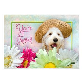 INVITATION - MULTI-PURPOSE - FLOWERS/DOG