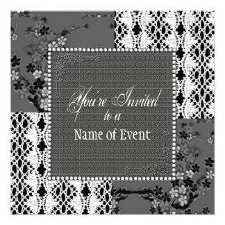 Invitation - Multi-Purpose - Gray and Lace Announcements